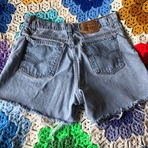 VTG 70s Levi's Orange Tab Light Wash Mom Shorts